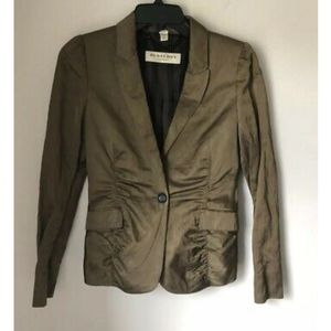 Burberry London Silk Blend Ruched Jacket